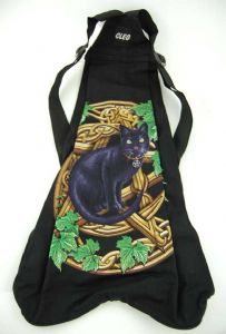 Hippy Bag~Pagan Cat In Pentagram Backpack~Fair trade by Folio Gothic Hippy 95110